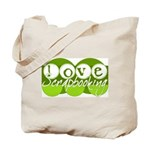 Love Scrapbooking - green Tote Bag