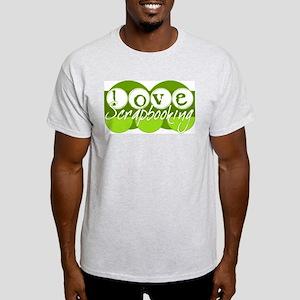 Love Scrapbooking - green Ash Grey T-Shirt