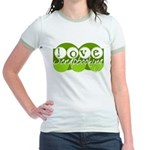 Love Scrapbooking - green Jr. Ringer T-Shirt