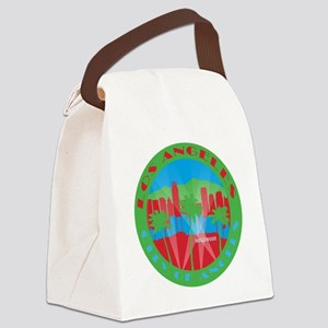 LA City of Angels primary Canvas Lunch Bag