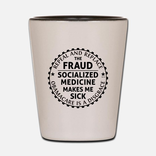 march_repeal_the_fruad_black Shot Glass