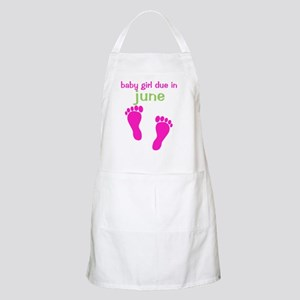 pinkfeet_babygirlduein_june_green Apron