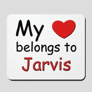 My heart belongs to jarvis Mousepad