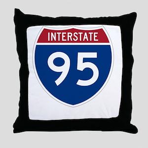 Highway95Invert Throw Pillow