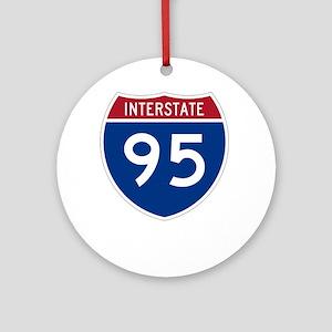 Highway95Invert Round Ornament