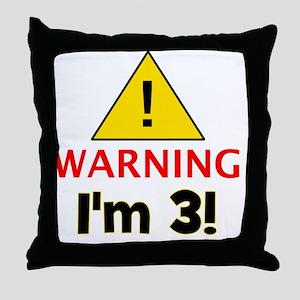 warningim3 Throw Pillow