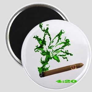 Smoke-Leaf with lettering Magnet