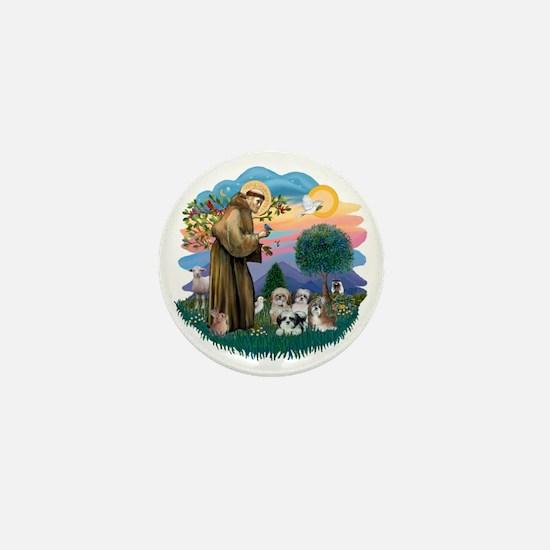 Shih Tzus (four) - St Francis 2R Mini Button