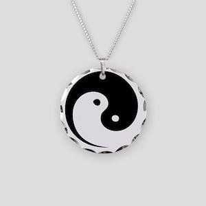 2-yinyang_hat Necklace Circle Charm