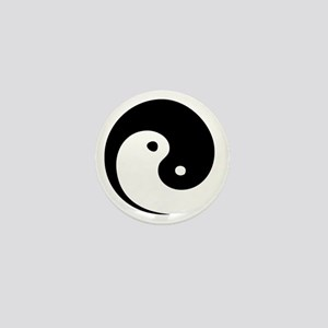 2-yinyang_hat Mini Button