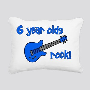 6yearoldsrock_blueguitar Rectangular Canvas Pillow