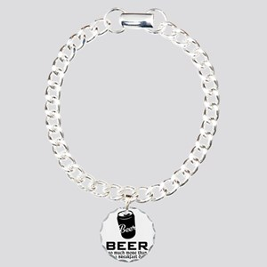 Beer So Much More Than J Charm Bracelet, One Charm