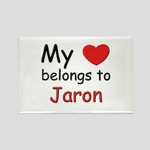 My heart belongs to jaron Rectangle Magnet