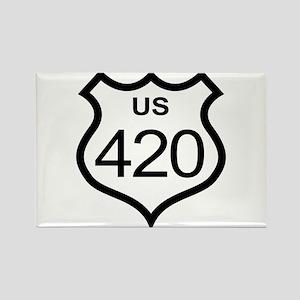 US Highway 420 Rectangle Magnet