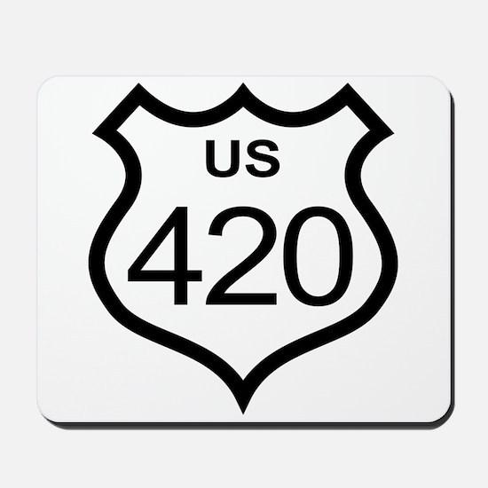 US Highway 420 Mousepad