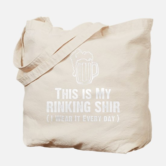 This Is My Drinking Shirt White Tote Bag
