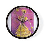 Skeletal Flamenco Wall Clock
