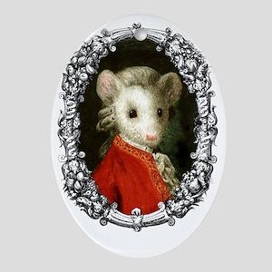 Mousezart Oval Ornament