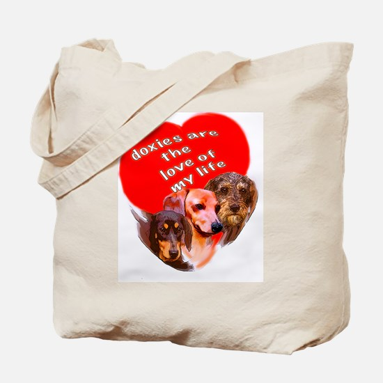 doxie puppy love Tote Bag
