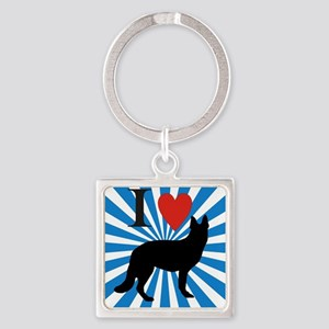 german shepard Square Keychain