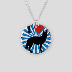 german shepard Necklace Circle Charm
