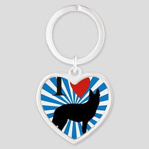 german shepard Heart Keychain