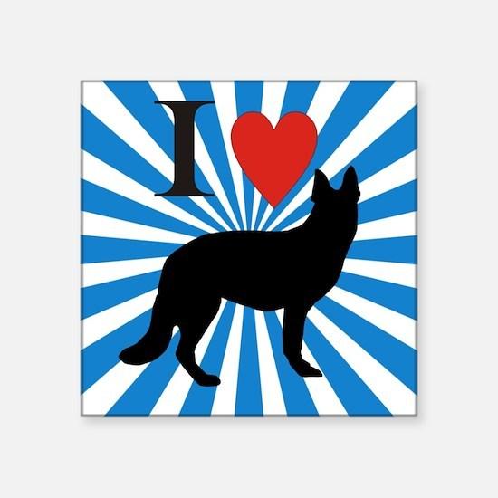 "german shepard Square Sticker 3"" x 3"""