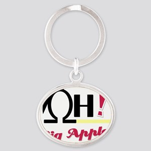 OH_Big_Apples_32610_2000 Oval Keychain