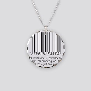 INVENTORY-black Necklace Circle Charm