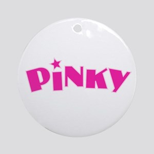 Pinky Round Ornament