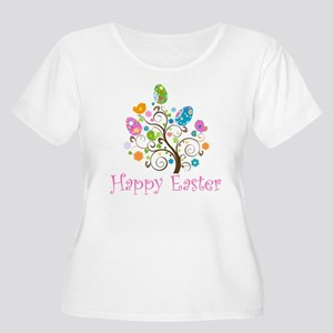 Happy Easter Women's Plus Size Scoop Neck T-Shirt