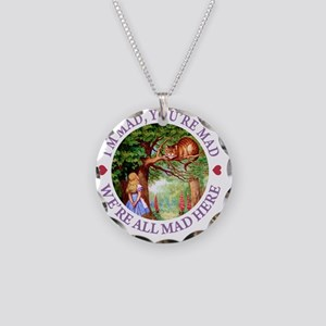 ALICE CAT WERE ALL MAD_PURPL Necklace Circle Charm