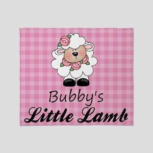 little lamb girl Throw Blanket