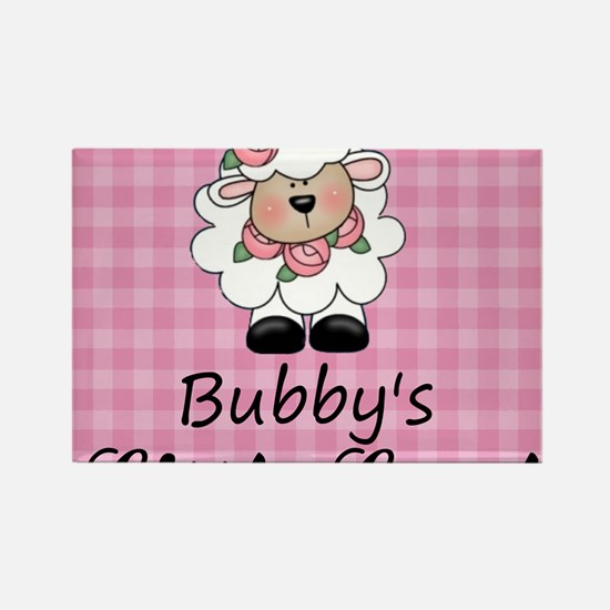 little lamb girl Rectangle Magnet