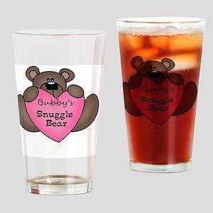 snuggle bear Drinking Glass