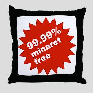 Large Minaret Free Badge Throw Pillow