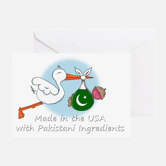 stork baby pak white 2 Greeting Card
