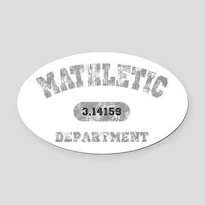 math-dept-DKT Oval Car Magnet