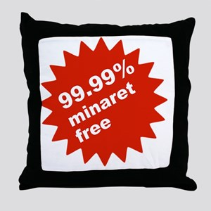 1 litre small top left badge Throw Pillow