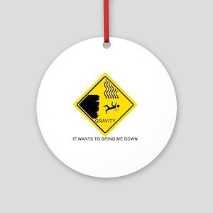 Gravity-black Round Ornament