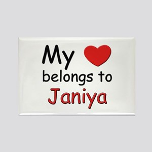 My heart belongs to janiya Rectangle Magnet