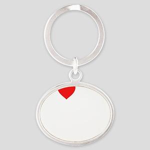 2-heart my 2nd grade class (i love m Oval Keychain