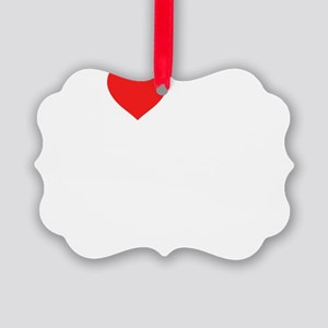 2-heart my 4th grade class dink s Picture Ornament