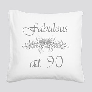 Foral 90 Square Canvas Pillow