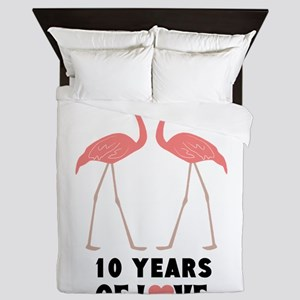Anniversary Years Personalized Queen Duvet