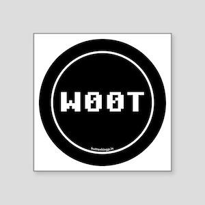 "btn-geek-woot Square Sticker 3"" x 3"""