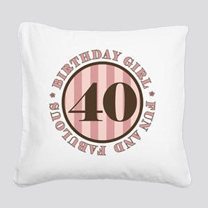 FunAndFab 40 Square Canvas Pillow
