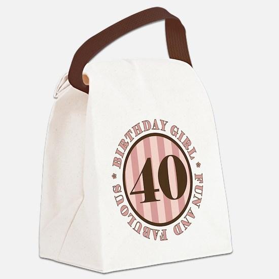 FunAndFab 40 Canvas Lunch Bag