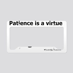 impatience_sq License Plate Holder