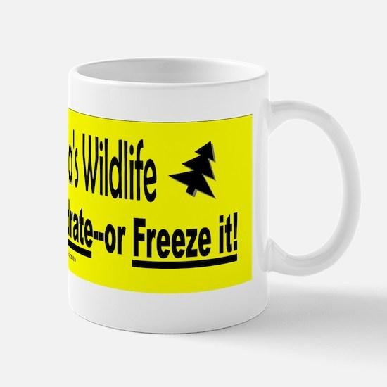 Save Canadas Wildlife Sticker.gif Mug